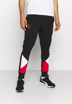 Puma - AC MAILAND FTBLCULTURE TRACK PANTS - Jogginghose - black/tango red