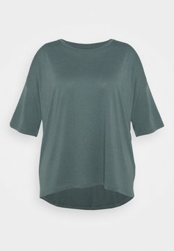 Even&Odd Curvy - T-Shirt basic - green