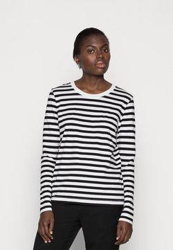 Selected Femme - SLFSTANDARD TEE  - Langarmshirt - black/bright white