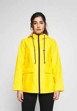 Pieces Petite - PCRARNA RAIN JACKET - Regnjakke / vandafvisende jakker - empire yellow/silver trim