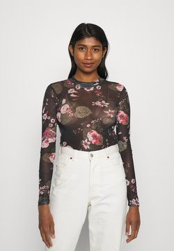 Even&Odd - Langarmshirt - black/pink