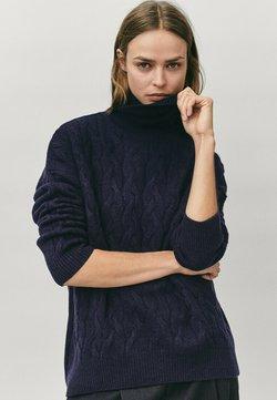 Massimo Dutti - MIT ROLLKRAGEN  - Sweter - blue-black denim