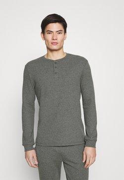 Pier One - LOUNGE HENLEY TOP - Camiseta de pijama - mottled dark grey