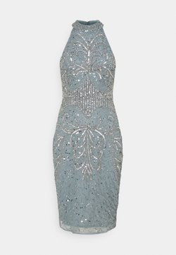 SISTA GLAM PETITE - GLOSSIE  - Cocktail dress / Party dress - grey/blue