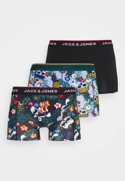 Jack & Jones - JACFUNNY SKULLS TRUNKS 3 PACK - Shorty - black/deep teal/burnt ochre