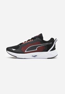 Puma - MINIMA  - Zapatillas de running neutras - black/white/energy peach
