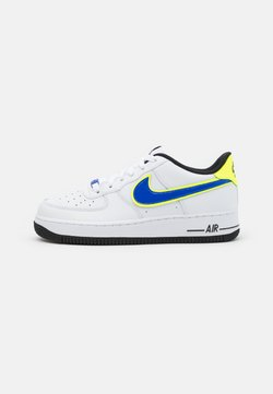 Nike Sportswear - AIR FORCE 1 '07 UNISEX - Sneaker low - white/racer blue/volt/vivid purple/black