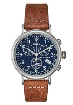 Timex - STANDARD - Montre à aiguilles - silver-coloured/brown/blue