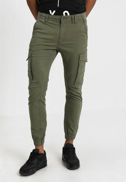 Jack & Jones - JJIPAUL JJFLAKE  - Cargobroek - olive night