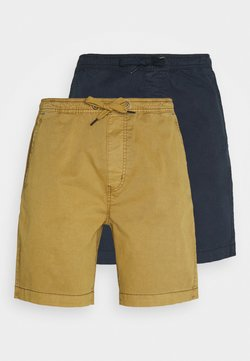 INDICODE JEANS - EXCLUSIVE BARNES 2 PACK - Shorts - navy / amber