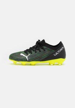 Puma - ULTRA 3.2 FG/AG JR UNISEX - Chaussures de foot à crampons - black/white/yellow alert