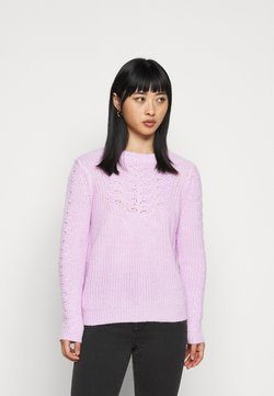 Dorothy Perkins Petite - POINTELLE CABLE  - Jersey de punto - lilac