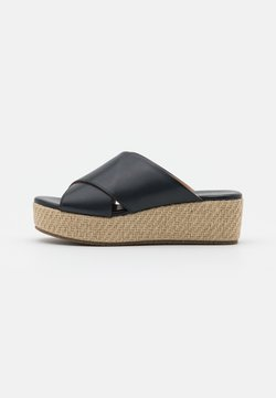 Anna Field - LEATHER - Heeled mules - black
