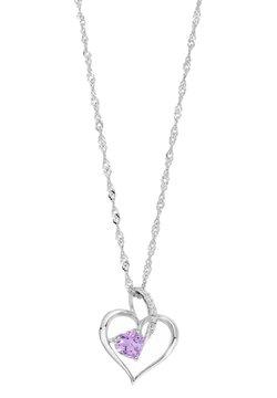 amor - MIT HERZANHÄNGE - Halsband - lila