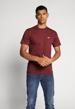 Vans - LEFT CHEST LOGO TEE - Basic T-shirt - port royale/white