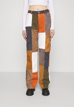 Jaded London - PATCHWORK WIDE LEG TROUSER - Trousers - multi