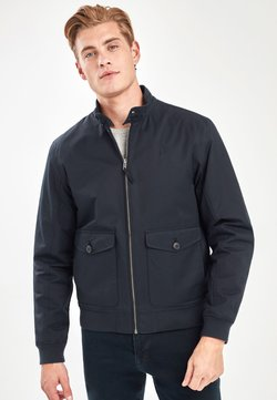 Next - NAVY BORG LINED HARRINGTON JACKET - Giubbotto Bomber - blue