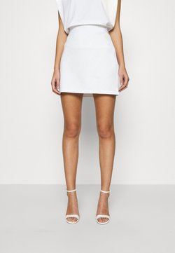 Calvin Klein Jeans - MILANO SKIRT - Minirock - bright white