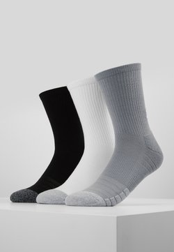 Under Armour - HEATGEAR CREW 3 PACK - Sportsocken - steel/white