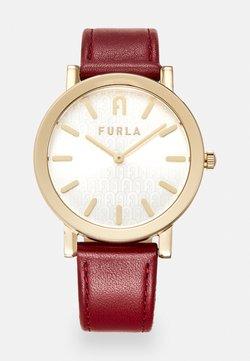 Furla - FURLA MINIMAL SHAPE - Montre - red/gold-coloured