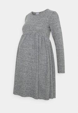 MAMALICIOUS - MLCAILA DRESS - Sukienka dzianinowa - grey/melange