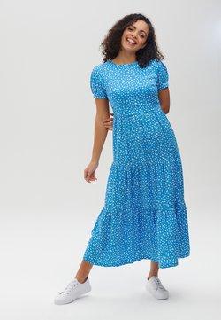 Sugarhill Brighton - POLLY SPOT SMOCK - Maxikleid - blue