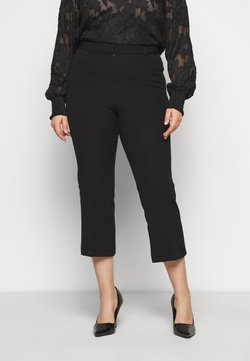 Simply Be - EVERYDAY MOLLY CROP KICKFLARE TROUSER - Pantaloni - black