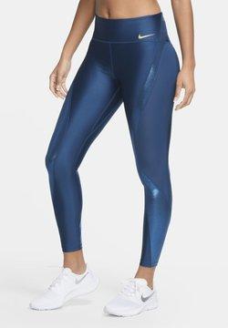 Nike Performance - CLASH SPEED - Tights - valerian blue/metallic gold
