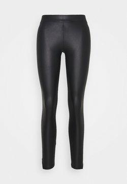 Pieces Petite - PCNEW SHINY SLIT - Leggings - Hosen - black