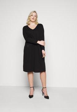 MY TRUE ME TOM TAILOR - CLEAN ZIP DETAIL DRESS - Etuikleid - deep black