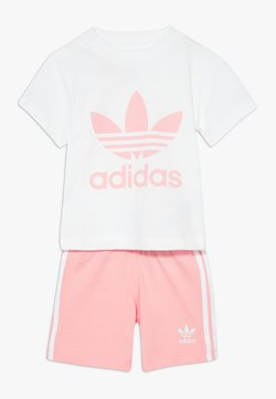 adidas Originals - SET UNISEX - Shorts - white/light pink