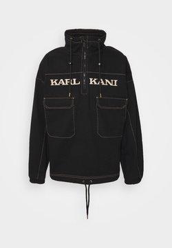 Karl Kani - RETRO WASHED WINDBREAKER - Windbreaker - black