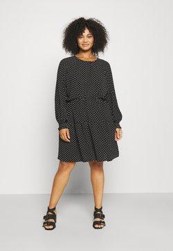 Vero Moda Curve - VMSAGA GATHERING DRESS - Korte jurk - black