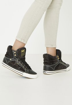 British Knights - ATOLL - Sneakers high - dk grey leopard/black