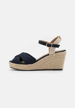 TOM TAILOR - Plateausandalette - navy