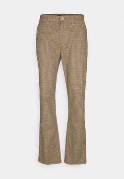 Brixton - CHOICE PANT - Stoffhose - vanilla houndstooth