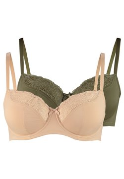 DORINA CURVES - FAITH UNDERWIRE 2 PACK - Underwired bra - green/beige