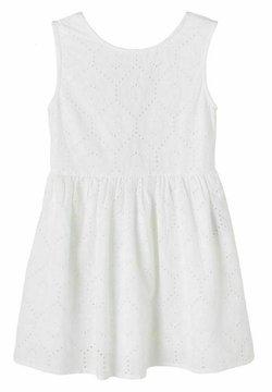 Name it - LOCHSTICKEREI - Freizeitkleid - bright white