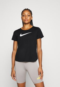 Nike Performance - RUN - Camiseta estampada - black/silver/white