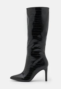 Missguided - MID STILETOE TUBULAR BOOTS - Høje støvler/ Støvler - black