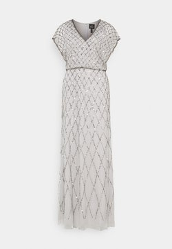Adrianna Papell - BLOUSON BEADED DRESS - Occasion wear - bridal silver
