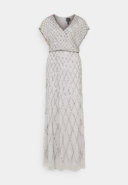 Adrianna Papell - BLOUSON BEADED DRESS - Iltapuku - bridal silver