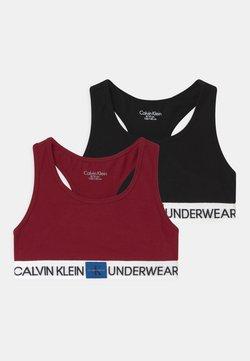 Calvin Klein Underwear - 2 PACK - Brassière - rhubarb/black