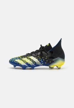 adidas Performance - PREDATOR FREAK .1 FG - Chaussures de foot à crampons - core black/footwear white/solar yellow