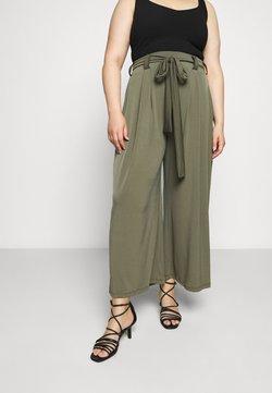 ONLY Carmakoma - CARTONIA PALAZZO PANT - Trousers - kalamata