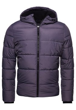 Superdry - SPORTS PUFFER - Winterjacke - black marl