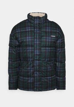 Jack & Jones - JORFRANK PUFFER JACKET - Winterjacke - trekking green/green check