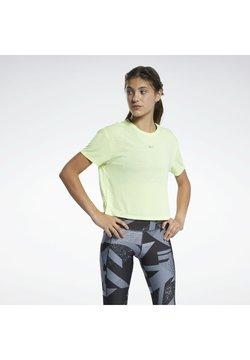 Reebok - RUN ESSENTIALS SHORT SLEEVE GRAPHIC T-SHIRT - Camiseta estampada - yellow