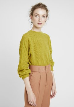 Nümph - LILLIAS - Strickpullover - golden olive