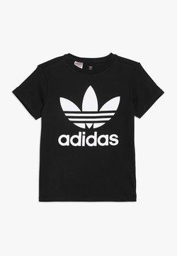 adidas Originals - TREFOIL TEE - Printtipaita - black/white